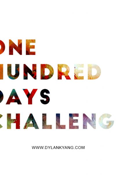 Tackle Your Goals – The 100 Day Challenge