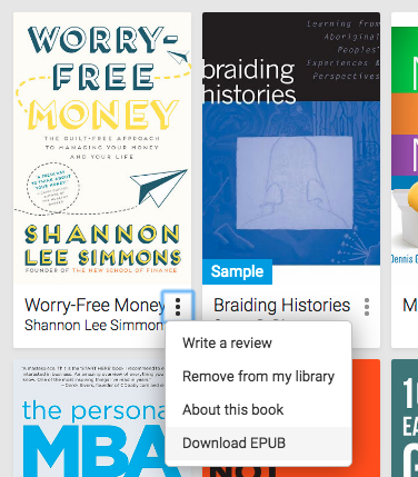 How to download epub from Google Play Books