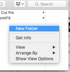 Create folder in external ssd (Optional)