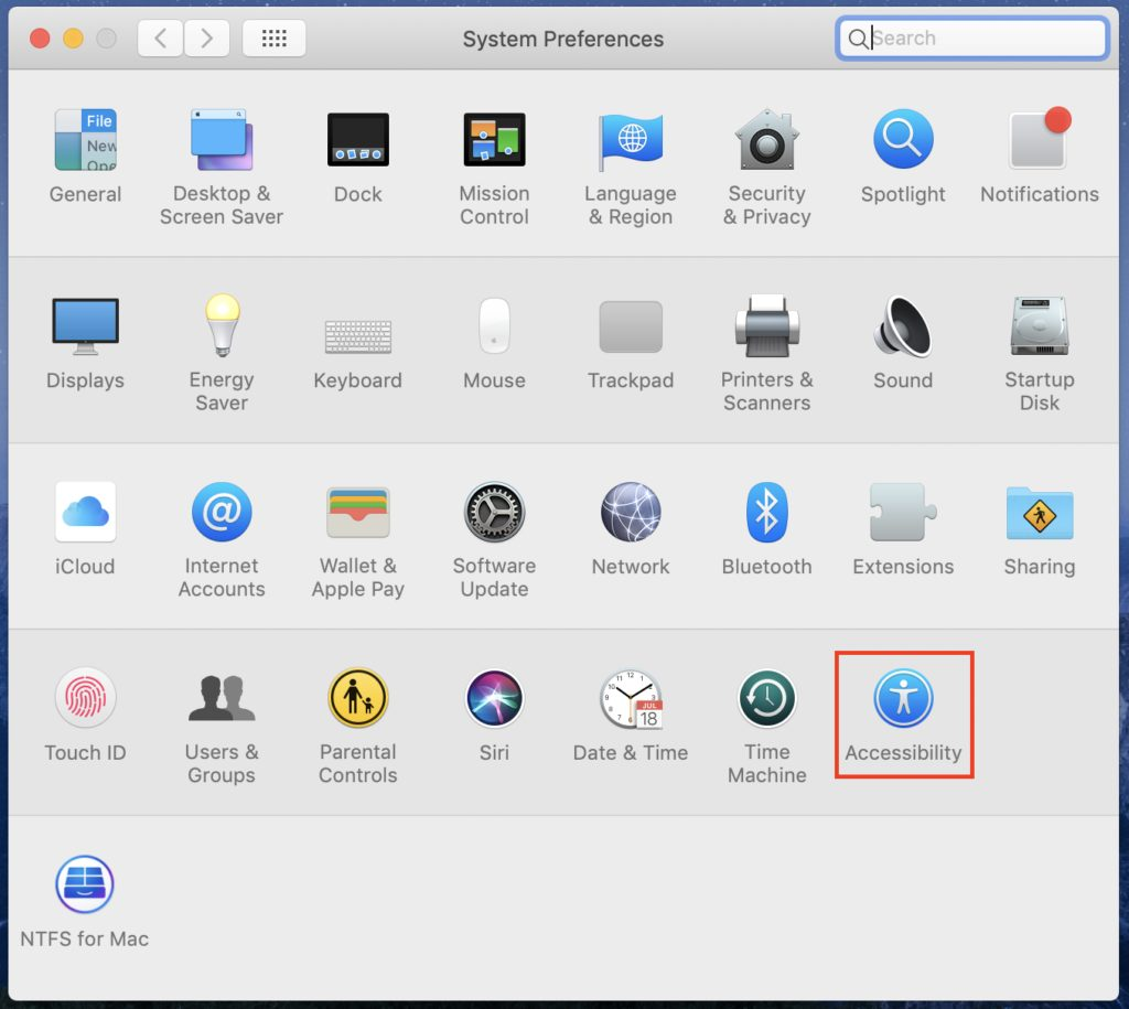 accessibility new mac system preferences
